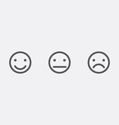 Different smiley faces icons vector