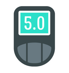 digital glucometer icon flat style vector image