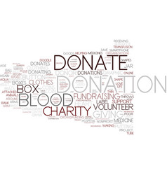 Donation word cloud concept vector