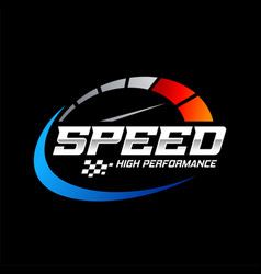 Fast and speed logo template vector
