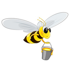 flying bee character vector image