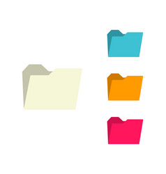 folder icons set folders color icons folder web vector image