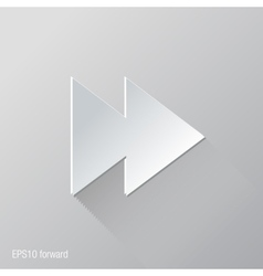 forward flat icon design vector image