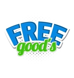 Free goods comics icon vector image