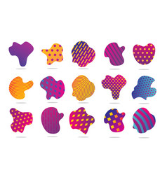 Funky patches liquid shape with geometric vector