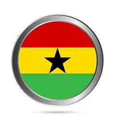 Ghana flag button vector image