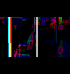 glitch abstract background technical problem vector image