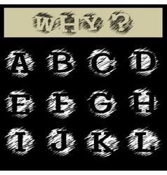 Grunge Alphabet A to L vector