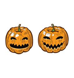 Halloween pumpkin symbol vector