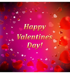 Happy Valentines Day Card With Blur vector image
