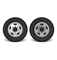 Heavy duty truck rims vector