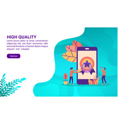 high quality concept with character template for vector image