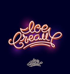 Ice cream lettering candy volumetric typography vector