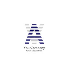 initial letter a logo icon template vector image
