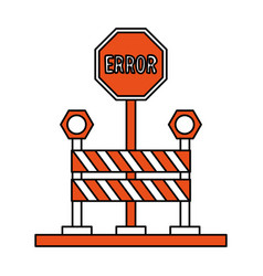 isolated road sign design vector image