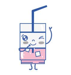 Kawaii cute funny drink beverage vector