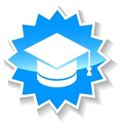Knowledge blue icon vector