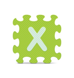 letter X written with alphabet puzzle vector image