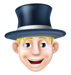 Man in top hat cartoon vector