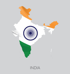 Map india vector