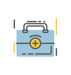 Medical bag icon flat and line modern style vector