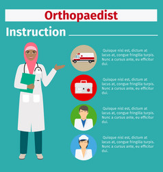 medical equipment instruction for orthopaedist vector image