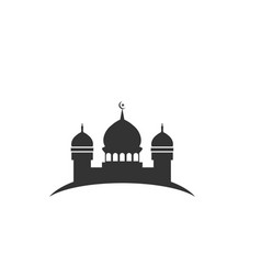 mosque silhouette graphic design element template vector image