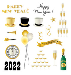 new years eve 2022 graphics vector image