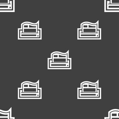 Newspaper icon sign Seamless pattern on a gray vector image