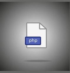 php icon php format symbol php sign vector image
