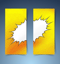 Pop art comic book style steam cloud banner vector image
