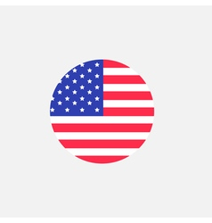 Round circle shape american flag icon star vector