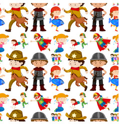 seamless background design for kids in different vector image