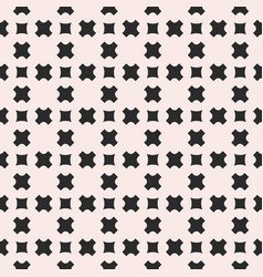 seamless pattern geometric texture with crosses vector image