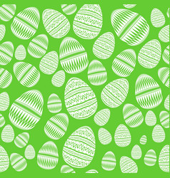 seamless pattern of striped easter eggs in boho vector image
