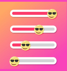 Serious and confident smile slider fo mobile app vector