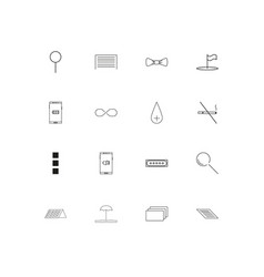 signs and symbols linear thin icons set outlined vector image