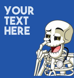 skeleton picked his nose with his middle finger vector image