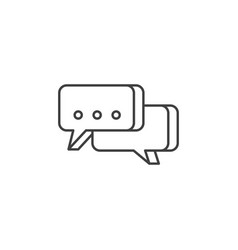 speech bubble related line icon vector image