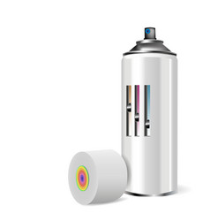 spray cap with realistic color and shadow vector image