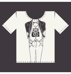 T Shirt Print Design vector image