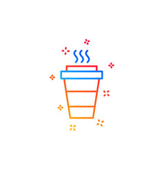 Takeaway coffee line icon hot drink sign vector