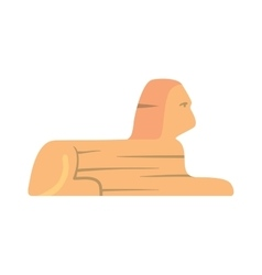 Traditional symbols of Egypt Sphinx monument vector image