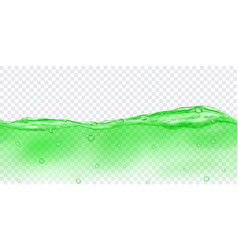 transparent water with air bubbles vector image