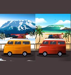 travel in van vector image