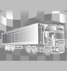 truck abstract lines design concept vector image