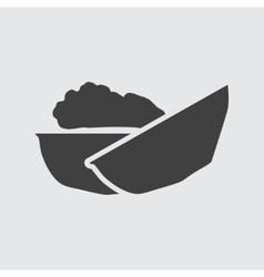 Walnut icon vector