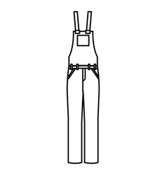 worker uniform overalls icon vector image
