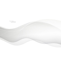 Abstract waves White background vector image vector image