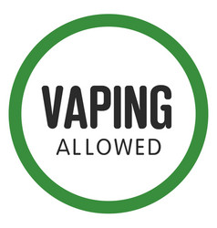 allow sign electronic cigarette smoking vector image